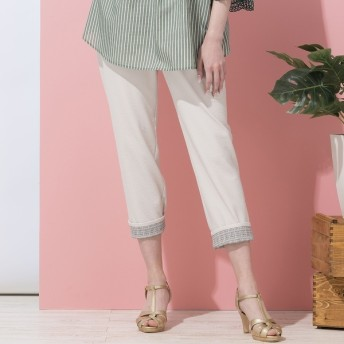 [マルイ]【セール】シャドーストライプ・裾折り返しチェックパンツ/フィットミーモア(Fitme Moi)