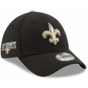 New Era ニュー エラ スポーツ用品  New Era New Orleans Saints Black Team Slogan Classic 39THIRTY Flex Hat