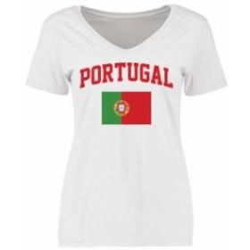 Fanatics Branded ファナティクス ブランド スポーツ用品  Portugal Womens White Flag T-Shirt