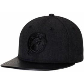New Era ニュー エラ スポーツ用品  New Era Miami Dolphins Heathered Black/Black Leather Match Original Fit 9FIFTY Snap