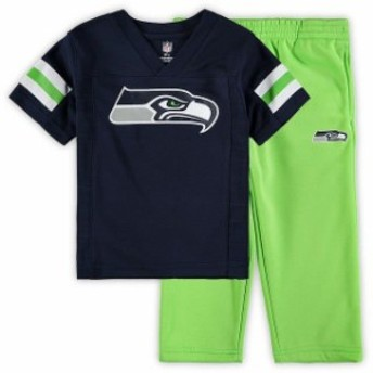 Outerstuff アウタースタッフ スポーツ用品 Seattle Seahawks Toddler College Navy/Neon Green Toddler Training Camp P