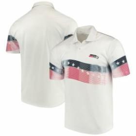 Antigua アンティグア シャツ ポロシャツ Antigua Seattle Seahawks White Patriot Polo