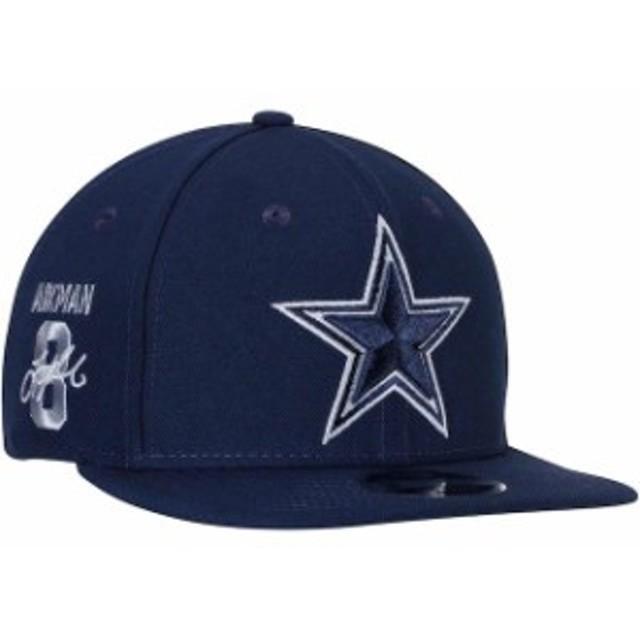 New Era ニュー エラ スポーツ用品  New Era Troy Aikman Dallas Cowboys Navy Signature Side 9FIFTY Adjustable Snapback H