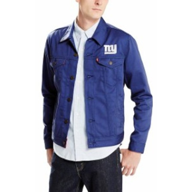 Levis リーバイス アウターウェア ジャケット/アウター Levis New York Giants Royal Twill Trucker Button-Up Jac