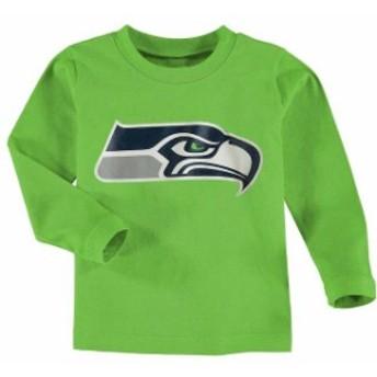 Outerstuff アウタースタッフ スポーツ用品 Seattle Seahawks Toddler Neon Green Team Logo Long Sleeve T-Shirt