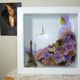 saleパープルピンクの花時計