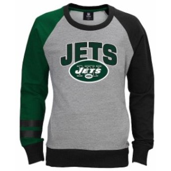 Outerstuff アウタースタッフ スポーツ用品 New York Jets Girls Youth Gray Amethyst Fleece Crew Neck Sweatshirt