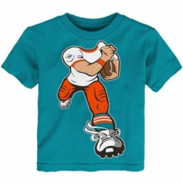 Outerstuff アウタースタッフ スポーツ用品  Miami Dolphins Toddler Aqua Yard Rush T-Shirt