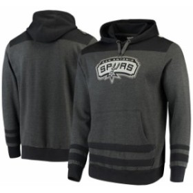 Majestic マジェスティック スポーツ用品  Majestic San Antonio Spurs Charcoal/Black Double Minor Pullover Hoodie