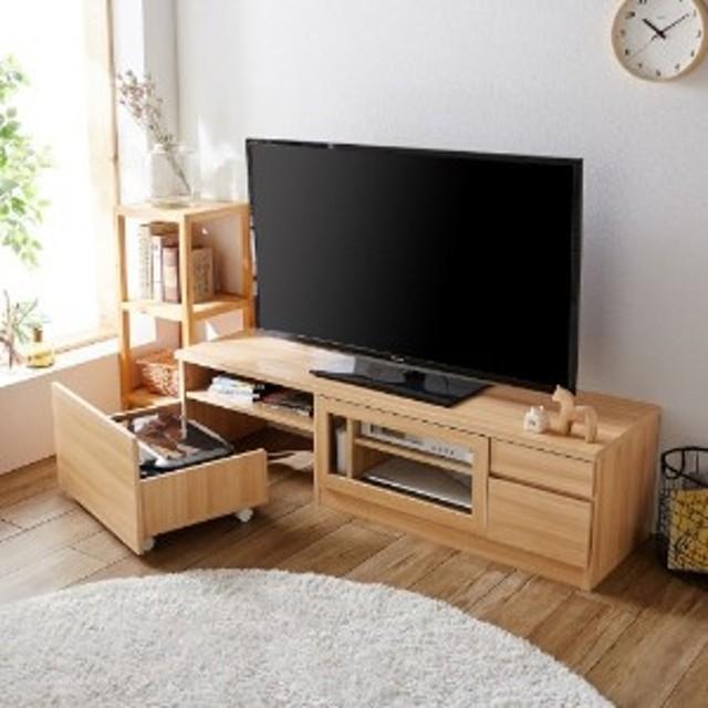 プリンター収納付きテレビ台