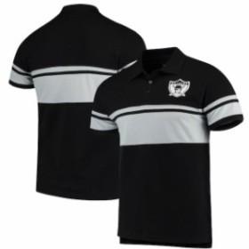 Forever Collectibles フォーエバー コレクティブル シャツ ポロシャツ Oakland Raiders Black Retro Stripe Polo