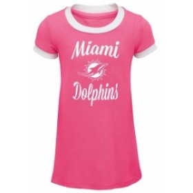 Outerstuff アウタースタッフ スポーツ用品  Miami Dolphins Infant Pink Yardline Ringer Tee Dress