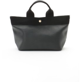 TOPKAPI リプルフェイクレザー ミニトートバッグ 日本製 トートバッグ,ブラック