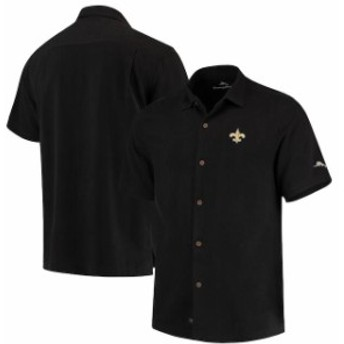 Tommy Bahama トミー バハマ シャツ ポロシャツ Tommy Bahama New Orleans Saints Black Luau Floral Core Camp Button-Up