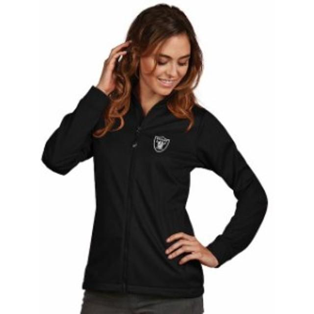 Antigua アンティグア アウターウェア ジャケット/アウター Antigua Oakland Raiders Womens Black Full-Zip Golf