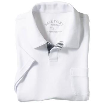 【メンズ】 【人気デザイン】ドライ鹿の子素材のスキッパーポロシャツ - セシール ■カラー:ホワイト ■サイズ:7L,S,5L,L,LL,M,3L