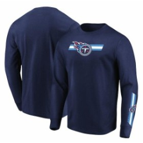 Majestic マジェスティック スポーツ用品  Majestic Tennessee Titans Navy Dual Threat Long Sleeve T-Shirt