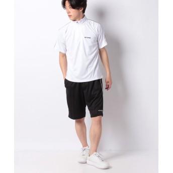 マルカワ ケイパ ドライ メッシュ ハーフジップ 半袖 上下セット メンズ ホワイト L 【MARUKAWA】