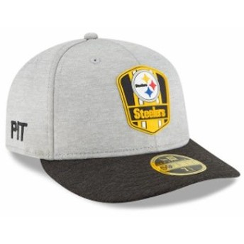 New Era ニュー エラ 服 New Era Pittsburgh Steelers Heather Gray/Black 2018 NFL Sideline Road Low Profile 59FIFTY Fitted H