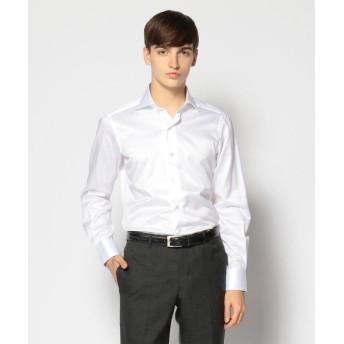 トゥモローランド 120/2コットンヘリンボーン ワイドカラー ドレスシャツ NEW WIDE 5 メンズ 11ホワイト 40 【TOMORROWLAND】