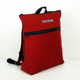 Twinwow - スタイリッシュな軽量 - 繊細な織り目加工のバックパック - 赤と黒