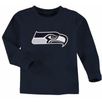 Outerstuff アウタースタッフ スポーツ用品 Seattle Seahawks Toddler Team Logo Long Sleeve T-Shirt - College Navy