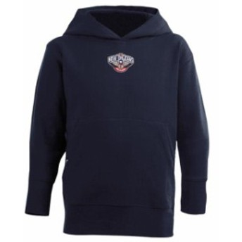 Antigua アンティグア スポーツ用品 Antigua New Orleans Pelicans Youth Signature Pullover Hoodie - Navy Blue