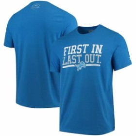 Under Armour アンダー アーマー スポーツ用品  Under Armour Detroit Lions Blue Combine Authentic First In T-Shirt