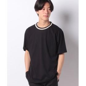 【40%OFF】 コエ プレーティング天竺ネックライン半袖Tシャツ メンズ ブラック S 【koe】 【セール開催中】