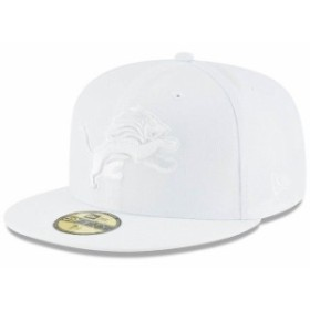 New Era ニュー エラ スポーツ用品  New Era Detroit Lions White on White 59FIFTY Fitted Hat