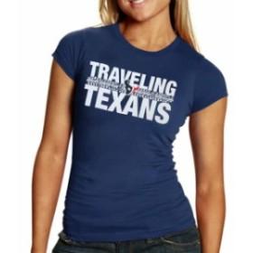 Majestic マジェスティック スポーツ用品  Houston Texans Womens Traveling Texans T-Shirt - Navy Blue
