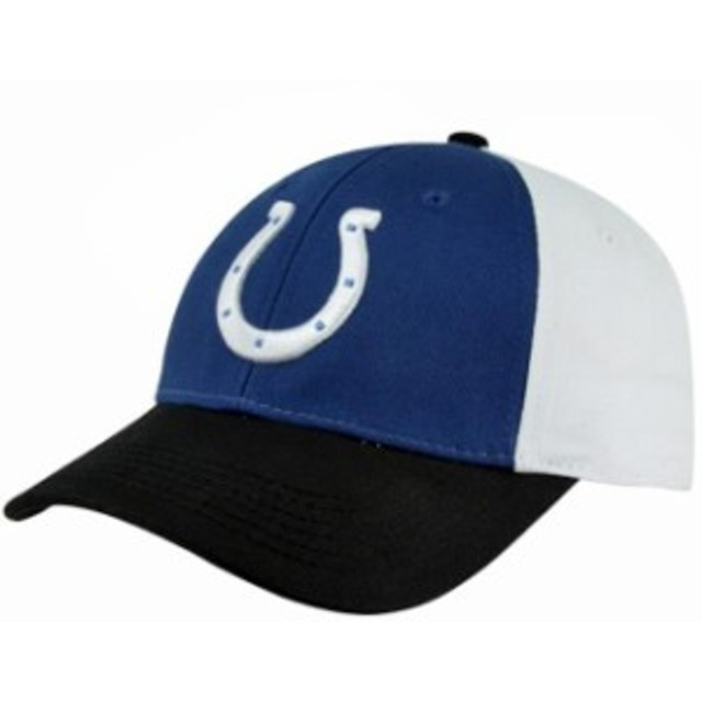 a413cd72915a8b Outerstuff アウタースタッフ スポーツ用品 Indianapolis Colts Preschool Color Block  Adjustable Hat - White/Royal