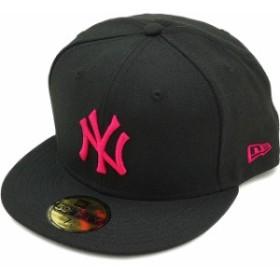 NEWERA ニューエラ NEW ERA キャップ 59FIFTY ニューヨーク・ヤンキース ブラック/ストロベリー [11308565]