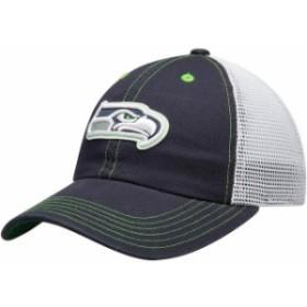 Outerstuff アウタースタッフ スポーツ用品  Seattle Seahawks Youth Navy Logo Applique Trucker Adjustable Snapback Ha