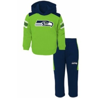 Outerstuff アウタースタッフ スポーツ用品 Seattle Seahawks Toddler Neon Green/College Navy Touchdown Fleece Set