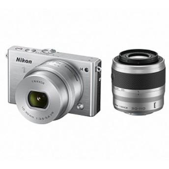 Nikon ミラーレス一眼 Nikon1 J4 ダブルズームキット シルバー J4WZSL(中古品)