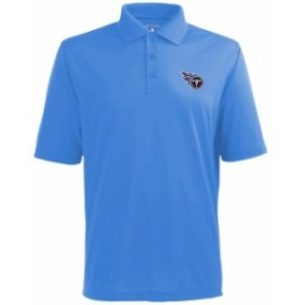 Antigua アンティグア シャツ ポロシャツ Antigua Tennessee Titans Pique Xtra-Lite Polo - Light Blue