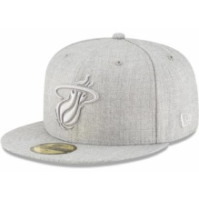 New Era ニュー エラ スポーツ用品  New Era Miami Heat Gray Twisted Frame 59FIFTY Fitted Hat