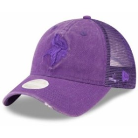 New Era ニュー エラ スポーツ用品  New Era Minnesota Vikings Womens Purple Tonal Washed Trucker 9TWENTY Adjustable Hat