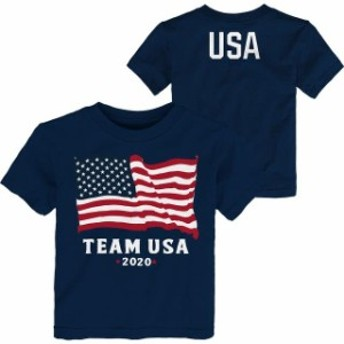 Outerstuff アウタースタッフ スポーツ用品 Team USA Toddler Navy American Flag 2020 T-Shirt