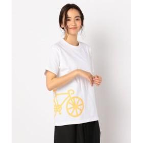 (FREDY & GLOSTER/フレディアンドグロスター)メガチャリ+ワッペンTシャツ/レディース ホワイト