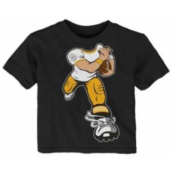 Outerstuff アウタースタッフ スポーツ用品 Pittsburgh Steelers Toddler Black Yard Rush T-Shirt