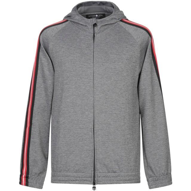 《セール開催中》HYDROGEN メンズ スウェットシャツ グレー S ナイロン 45% / コットン 40% / ポリウレタン 15%
