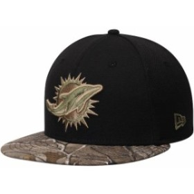 New Era ニュー エラ スポーツ用品  New Era Miami Dolphins Black/Realtree Camo Rambo 59FIFTY Fitted Hat