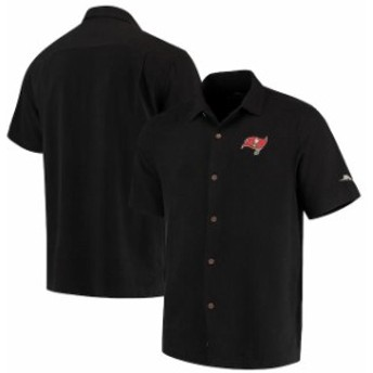 Tommy Bahama トミー バハマ シャツ ポロシャツ Tommy Bahama Tampa Bay Buccaneers Black Luau Floral Core Camp Button-