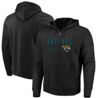 Majestic マジェスティック スポーツ用品 Majestic Jacksonville Jaguars Black Hyper Stack Full-Zip Hoodie