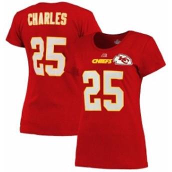 Majestic マジェスティック スポーツ用品 Majestic Jamaal Charles Kansas City Chiefs Womens Red Fair Catch V Name &