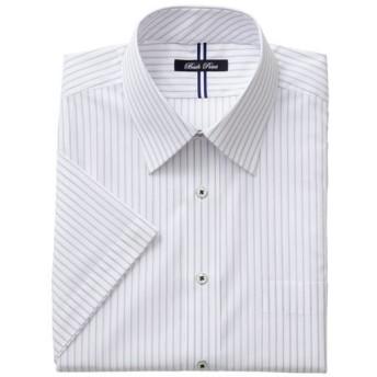 【メンズ】 形態安定デザインYシャツ(半袖) - セシール ■カラー:パープル系 ■サイズ:L,5L,M,3L,LL,4L