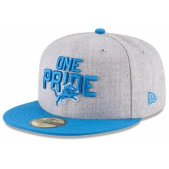 New Era ニュー エラ スポーツ用品 New Era Detroit Lions Youth Heather Gray/Blue 2018 NFL Draft Official On-Stage 59FI