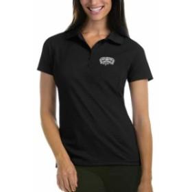 Antigua アンティグア スポーツ用品  Antigua San Antonio Spurs Womens Black Pique Xtra-Lite Polo